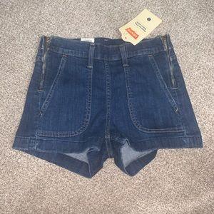 Levi's denim high waist stretch shorts